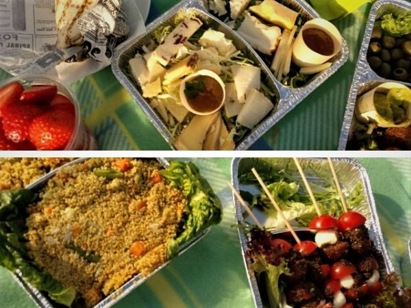 vegan/vegetarisches Picknick